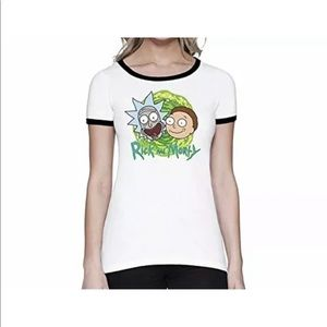 🚀 Rick and Morty white Woman T-shirt new